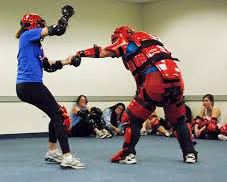Women Sparring